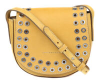 Frye Womens Leather Yellow Cassidy Saddle Crossbody Purse Bag Handbag $298 New