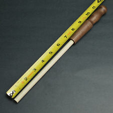 "11 3/8"" x 3/8"" Long Ceramic Knife Sharpening Rod Stick With Hardwood Handle New!"
