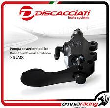 Discacciati Racing Thumb Finger Rear Brake Pump CNC 13mm FDR0002P - Black