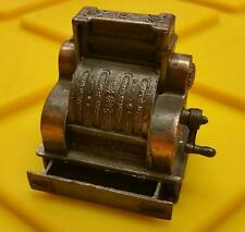 VINTAGE 1970's MINIATURE EARLY 1900's CASH REGESTER BRASS DIECAST SHARPENER