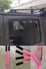 Jeep Wrangler Sunrider PINK Soft top hook n loop Tie Down Straps for 2007-2017