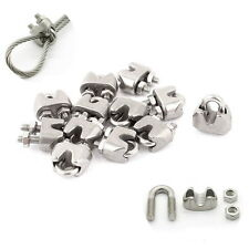 """2mm 1/16"""" Stainless Steel Wire Rope Cable Clamp Fastener 12pcs ER"""