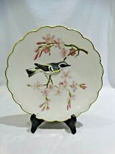 ROYAL WORCESTER DOROTHY DOUGHTY BIRD PLATE MYRTLE WARBLER IN CHERRY TREE