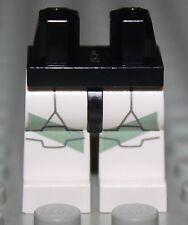 LeGo Star Wars Black Hips White Legs w/ Clone Trooper Sand Green Markings NEW