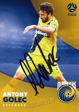 ✺Signed✺ 2017 2018 CENTRAL COAST MARINERS A-League Card ANTONY GOLEC