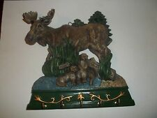 MOOSE with CRITTERS IN WOODS SETTING 5 KEY HOLDER - ABOUT 6 1/2'' AROUND