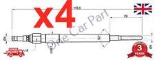 4x  FOR AUDI A6 2.0 (2004-11) DIESEL HEATER GLOW PLUG (BLB,BNA ENGINE CODE)