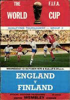 13.10.1976 England - Finnland / Finland, WM-Qualifikation - Wembley