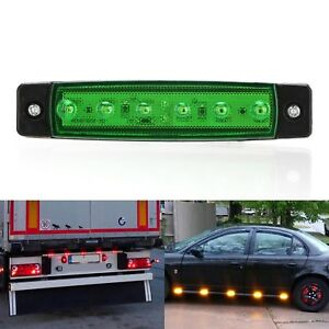 24V 6 LED Seitenmarkierungsleuchte Kennzeichenleuchte Für Lkw Bus Anhänger Neu