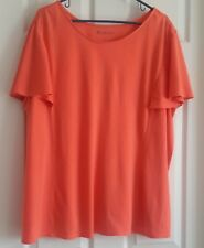 Women's Orange Bell Sleeved T-Shirt by Roamans-Size 1X (22-24)--NWOT