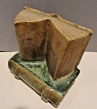 Majolica Pottery Paperweight w/ Pen Holder - Weighs 3 Lbs. 10 Oz.