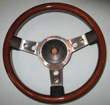 "New 13"" Solid Wood Steering Wheel & Hub Adaptor Austin Healey Sprite Bugeye"
