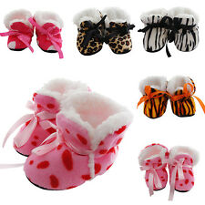 Cute Baby Girl Winter Warm Boots Toddler Infant Soft Sole Crib Shoes 0-12Months