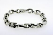 "David Yurman Chain Oval Link Bracelet 8.5"" $875 MENS Sterling Silver"