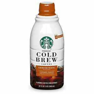 Starbucks Cold Brew Concentrate Caramel Dolce 32 oz Bottle