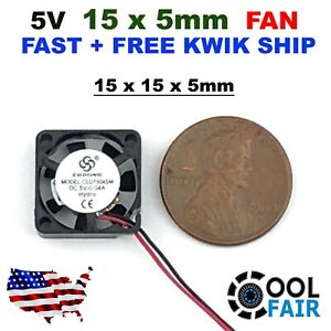 MF15B-05 5V 15mm Cooling Fan 1505 15x15x5mm Micro PC Computer Cooler 2 Wire