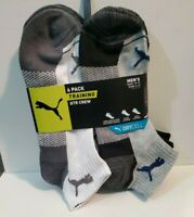 Puma Men's sock 6-Pair QTR Crew TRAINING  Socks. Shoe Size 6-12  sock 10-13