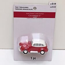 RED CAR, Tiny Treasures Village Miniatures Dollhouse Trains New Unopened