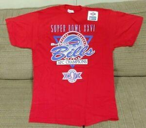 Brand NEW Vintage BUFFALO Bills NFL Football Super Bowl XXVI T-shirt Large 1992