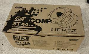 "HERTZ ST44 SPL 1.7"" SHOW HIGH EFFICIENCY COMPRESSION DRIVER HORN TWEETERS NEW"