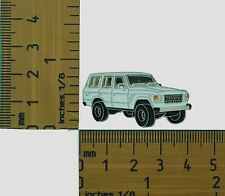 60 Series  Toyota Landcruiser White Wagon  Lapel Pin / Badge