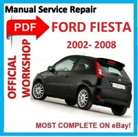 # OFFICIAL WORKSHOP MANUAL service repair FOR FORD FIESTA 2002 - 2008