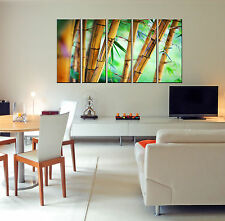 5 Piece Large Bamboo Canvas Wall Art Print Decor for Home Living Room Bedroom