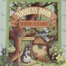 Martha B. Rabbit Address Book, Rare 1989, 1st Ed by Shirley Barber