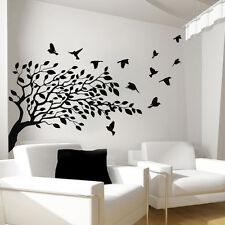 Tree Wall Decals Vinyl Bird Sticker Baby Nursery Bedroom Art Home Decor Art Ah90