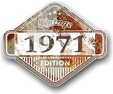 Aged Rusty Rouille Patine Année datée du 1971 Vintage Edition Cafe Racer Autocollant Voiture