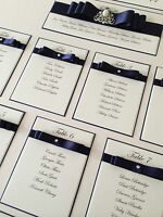 PERSONALISED A3 / A2 WEDDING SEATING PLAN TABLE PLANNER MANY COLOURS AVAILABLE