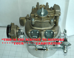 YOUR 1955 56 LINCOLN HOLLEY 4000 SERIES HAYSTACK CARBURETOR RESTORED PERFECT R&R
