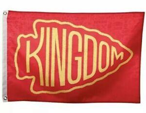 Kansas City Chiefs KINGDOM Flag - 3ft x 5ft Free Shipping