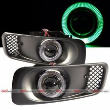 Green LED DRL Halo Angel Eyes Projector Fog Lights Lamps Kit Fits 99-00 Civic