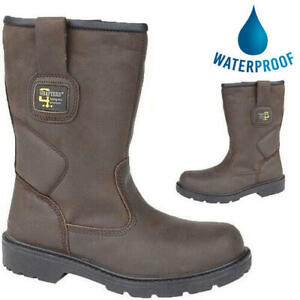 Grafters Mens Waterproof Leather Steel Toe Safety Rigger Work Boots Size 7-12