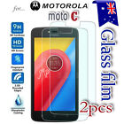 2X Motorola Moto C Tempered Glass / Plastic Screen Protector Film Guard (Moto C)
