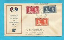 New Zealand 1937 King George Vi Coronation first day cover -847
