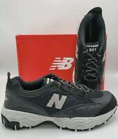 New Balance Trail Running Shoes Black Grey ML801SA Men's Size 13 D