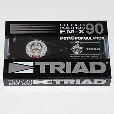 Triad EM-X 90 Min SEALED Blank Media NOS Metal Audio Cassette Tape Made in Japan