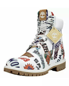 """TIMBERLAND MITCHELL & NESS X NBA """"EAST MEETS WEST"""" 6-INCH PREMIUM A1UD6 Sz 8.5"""