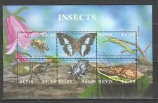P1536 NEVIS FAUNA INSECTS BUTTERFLIES BUGS BEES 1KB MNH