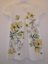 NEXT Gorgeous Girls Special Occasion Sparkly Yellow Flower Dress Outfit 5 Years