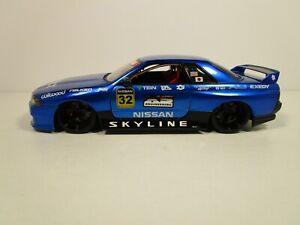 JADA 1/18 OPTION S IMPORT RACER BLUE NISSAN SKYLINE GT-R USED NICE *SMALL ISSUE*