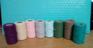 """Vintage """"Pretty Punch"""" Embroidery Yarn, Lot of 8  Pkg#1"""