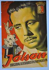 Jolson Magician Original Poster # 1