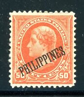 USA PHILIPPINES 219 MINT 50cent OG VF++++ CAT $125.00