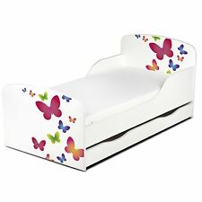 Lit d'enfant en bas âge MDF de papillons avec stockage sous-lit NEUF pour