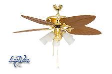Herrlicher Luxven Ceiling Fan Mit 5 Lights, Baroque, Floral Design