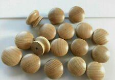 """Wooden Oak Knobs Handles Kitchen Door Drawers Cabinets Cupboard Wood 1.77"""" 44mm"""