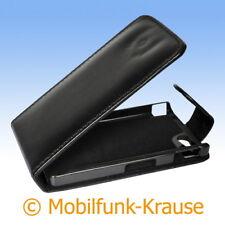 Flip Case Etui Handytasche Tasche Hülle f. Sony Xperia Go (Schwarz)